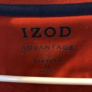 Men's xl IZOD burnt orange polo stretch/wick